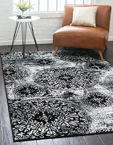 Unique Loom Sofia Collection Traditional Vintage Black Area Rug (2' x (Accents Collection Vintage Rug)