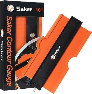 Saker Contour Gauge (10 Inch Lock) Profile Tool- Adjustable Lock -Precisely Copy Irregular Shape Duplicator -Irregular Welding Woodworking Tracing - Must Have Tool for DIY Handyman, Construction