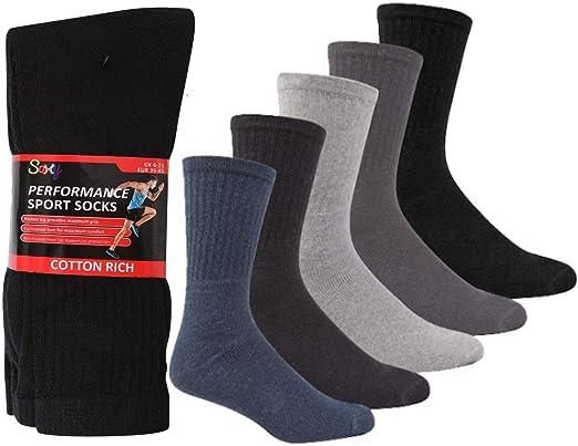 12 Pairs Aust 6-11 Navy Cotton Cushion Foot Work Socks Socks Men's Clothing