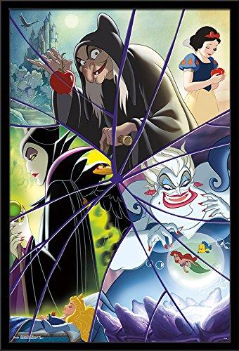 Trends International Framed Poster Disney Villains-Collage, 24.25