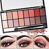Best Pro Eyeshadow Palette-16 Colors Pearl Matte Eyeshadow Eye Shadow Palette Brush Set (1#)