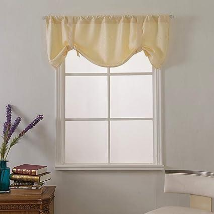 Gaddrt® - 1 mantovana per finestra, extra larga e corta, per cucina,  soggiorno, bagno E