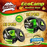 EcoCamp OUTDOOR GEAR Mess Kit (14 Pcs) for Camping...