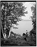 Vintography 8 x 10 Ready to Frame Pro Photo of an Adirondack Carry Adirondack MTS N Y 1908 Detriot Publishing 28a