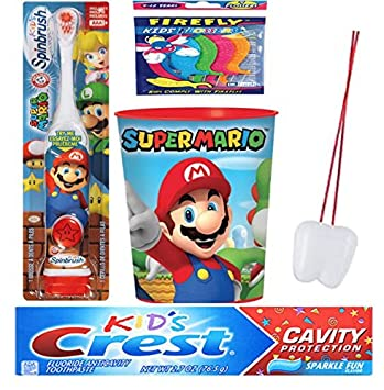 "Super Mario Brothers ""Gamer"" 3pcs. Bright Smile Oral Hygiene Bundle! Turbo"