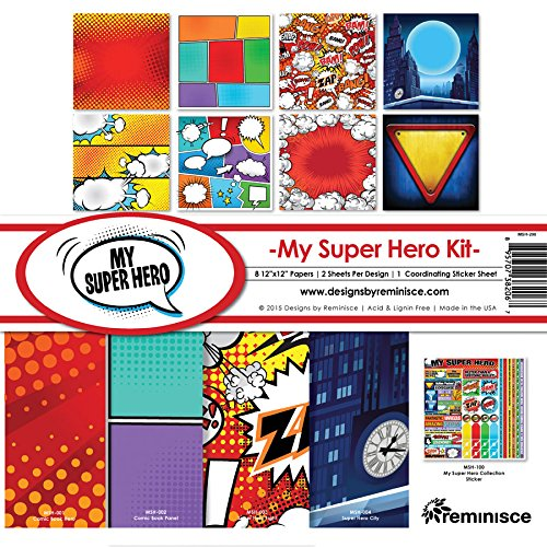 Reminisce MSH-200 My Super Hero Collection Kit, 12'' by 12'', Multicolor by Reminisce