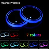 Lipctine Upgrade Version Universal LED Car Cup Holder Lights Mat Pad Colorful RGB Drink Coaster Accessories Interior…