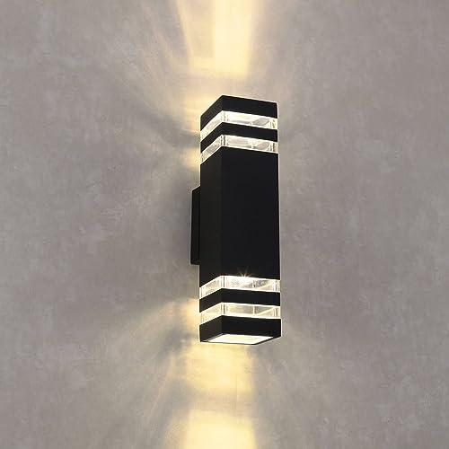 LED Outdoor Wall Light, Waterproof Cylinder Porch Light Modern Wall Lamp, Up Down Light, 8W 3000k Warm White, Naturous