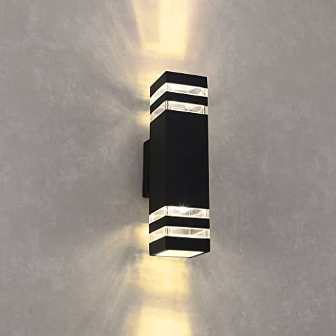 Beau Naturous WLB191 LED Wall Sconce Waterproof Cylinder Porch Light Modern Wall  Lamp, Up/Down