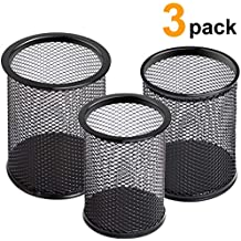Jarlink Pen Holder, Mesh Pencil Holder with 3 Sizes (Large, Medium, Small) Metal Pen Organizer for Office Supplies, Home