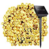 8 Modes 72ft 200 LED Solar String Lights, Satu Brown Fairy Waterproof Outdoor Decorative Lights for Garden, Patio, Yard, Home, Christmas Tree, Parties
