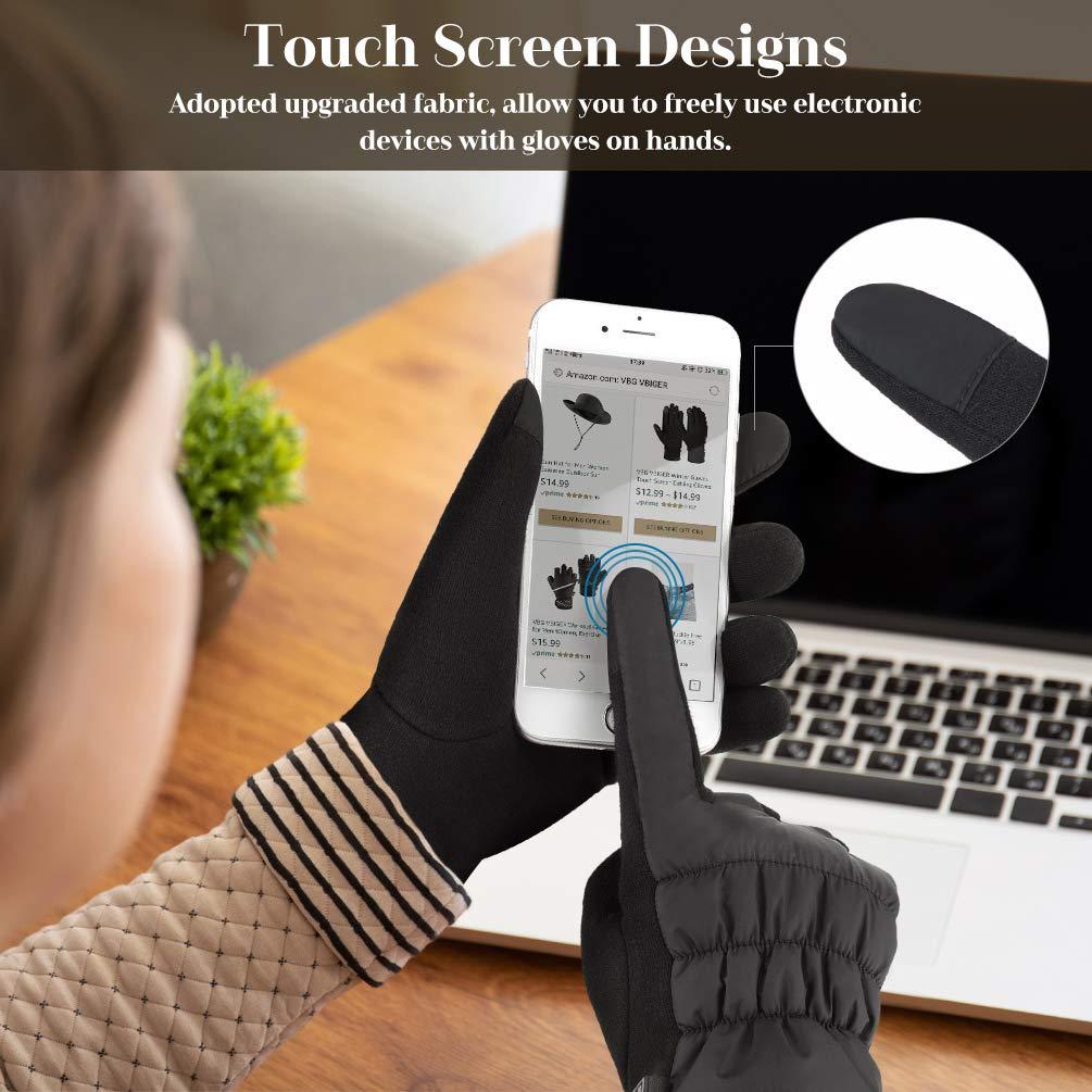 VBIGER Damenhandschuhe Winter Dicke Warme Handschuhe Touchscreen Handschuhe Winter Handschuhe Casual Handschuhe SMS Handschuhe für Outdoor
