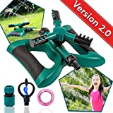 Lawn Sprinkler Automatic Sprinklers For Garden Water Sprinklers For Lawns Garden Sprinkler 360 Rotating Adjustable Lawn Irrigation Sprinkler System Watering Sprinkler for Kids Leak Free Design Durable