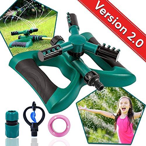 Lawn Sprinkler Automatic Sprinklers For Garden Water Sprinklers For Lawns Garden Sprinkler 360 Rotating Adjustable Lawn Irrigation Sprinkler System Watering Sprinkler for Kids Leak Free Design Durable by SupMLC