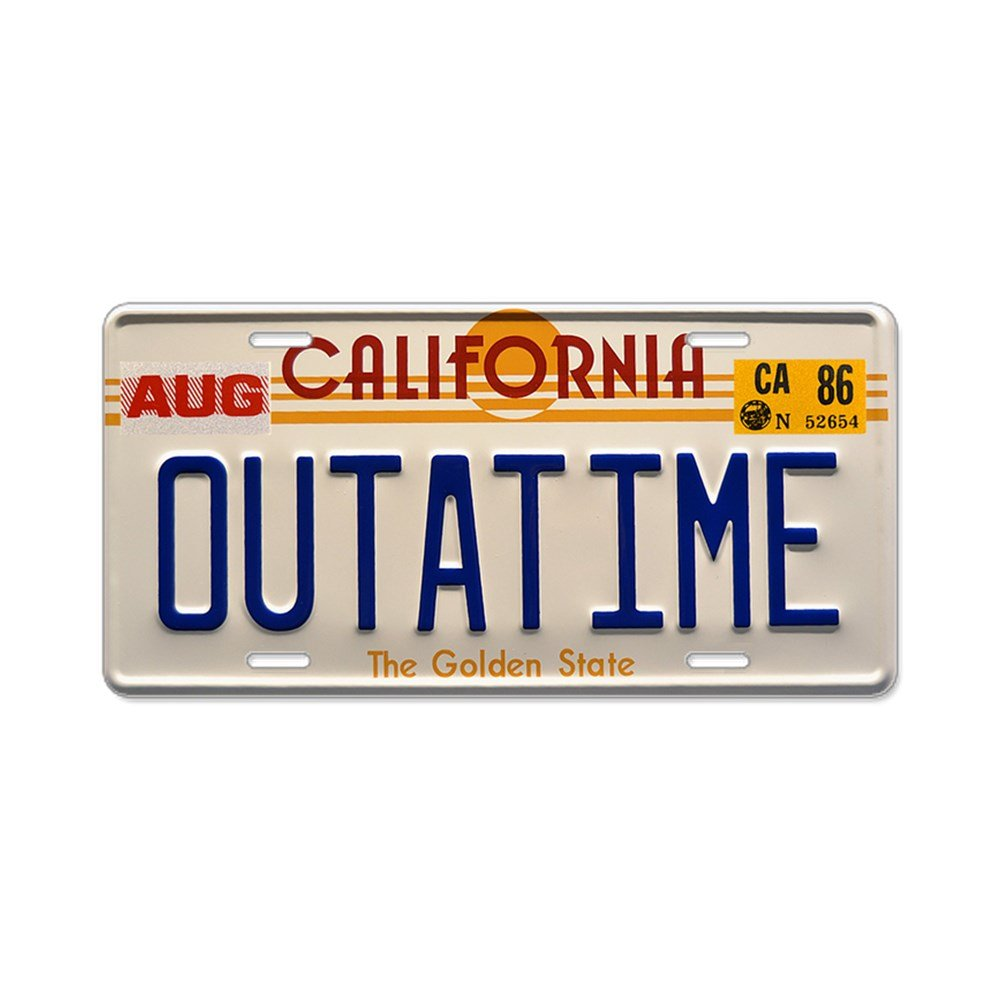 CafePress - Outatime Back To The Future - Aluminum License Plate, Front License Plate, Vanity Tag