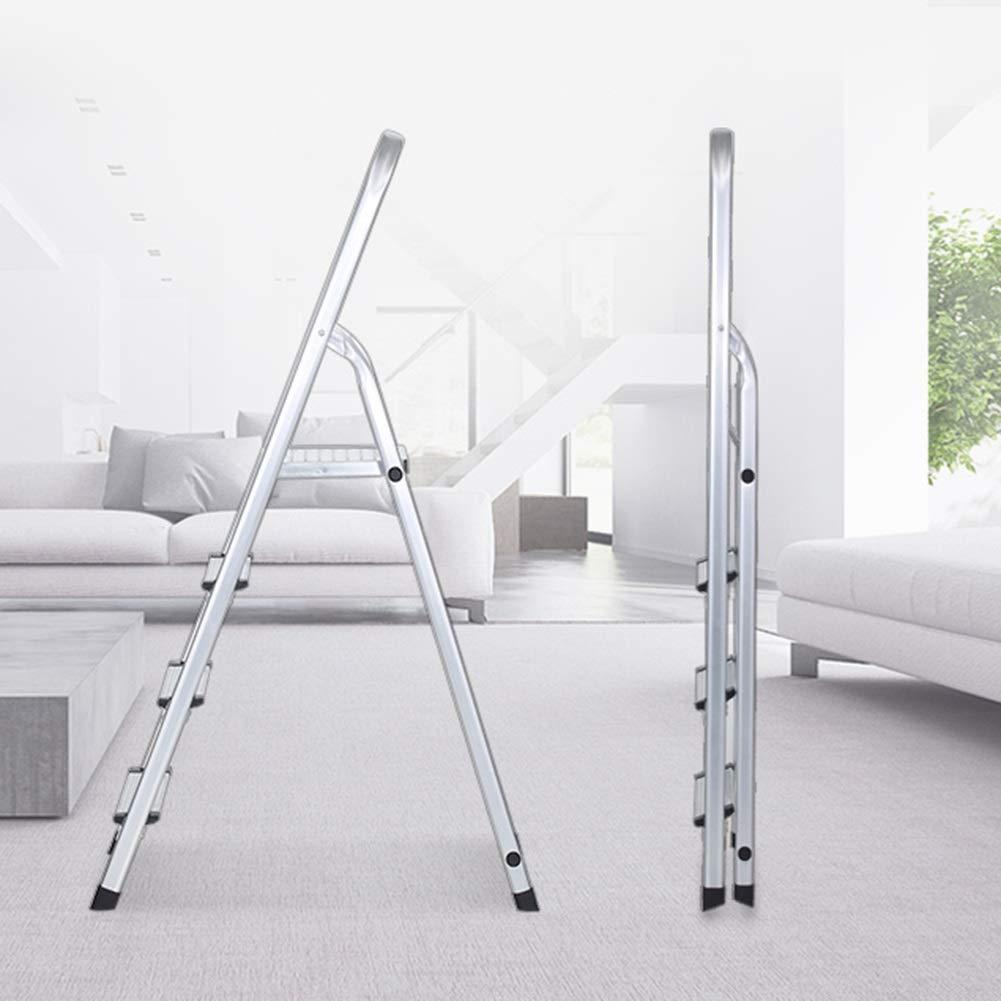 Blanc Alliage daluminium 6/marches Caijun /Échelle Pliable /à l/éclairage Int/érieur /épaissir antid/érapant Pliable Ensemble Tenue 4 4 Step Ladder 5