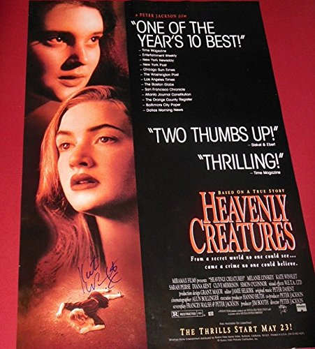 Heavenly Creatures Kate Winslet Signed Autographed 27x40 Movie Theatre Poster Loa