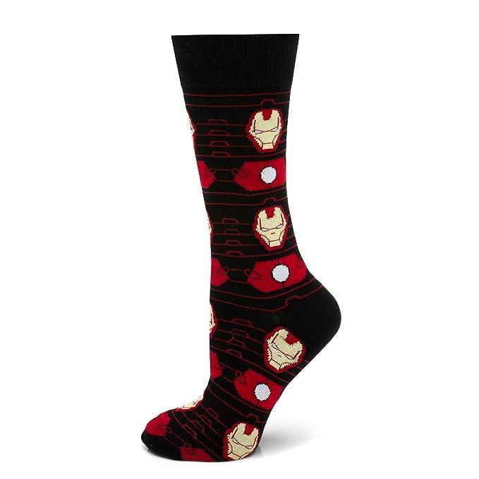 713524485ba Amazon.com  Marvel Iron Man Stripe Black Socks
