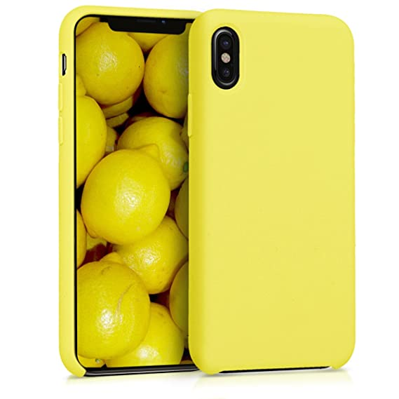 246b72e605 Image Unavailable. Image not available for. Color: kwmobile TPU Silicone  Case for Apple iPhone X - Soft Flexible Rubber Protective Cover - Yellow