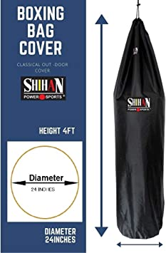 Waterproof 5-6ft /& 24inch Diameter Large Bag punch bag Outdoor Protection for your boxing Bag SHIHAN POWER SPORTS Boxing Bag Cover RED Ideal for freestanding boxing bags