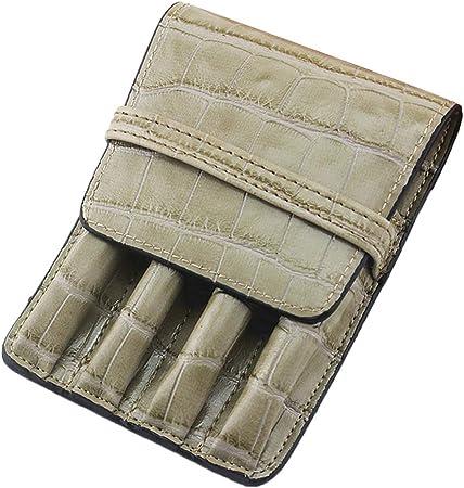 VOVOL - Estuche para pluma estilográfica con patrón de piel de cocodrilo gris: Amazon.es: Hogar