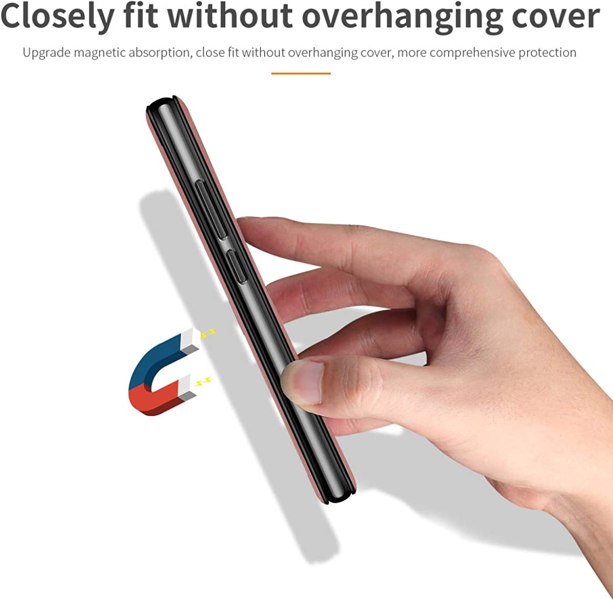360/°Bumper Flip Folio, Genuine Slim Vintage Synthetic Leather Card Cover Fvntuey Wallet Case Magnetic for iPhone 7//8 with Magnetic Adsorption Slots Closure Compatible with iPhone 7//8