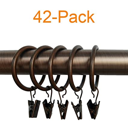 926e838392a Image Unavailable. Image not available for. Color  LiangTing 1.5 quot   Diameter Decorative Copper Matte Metal Curtain Clip Ring ...