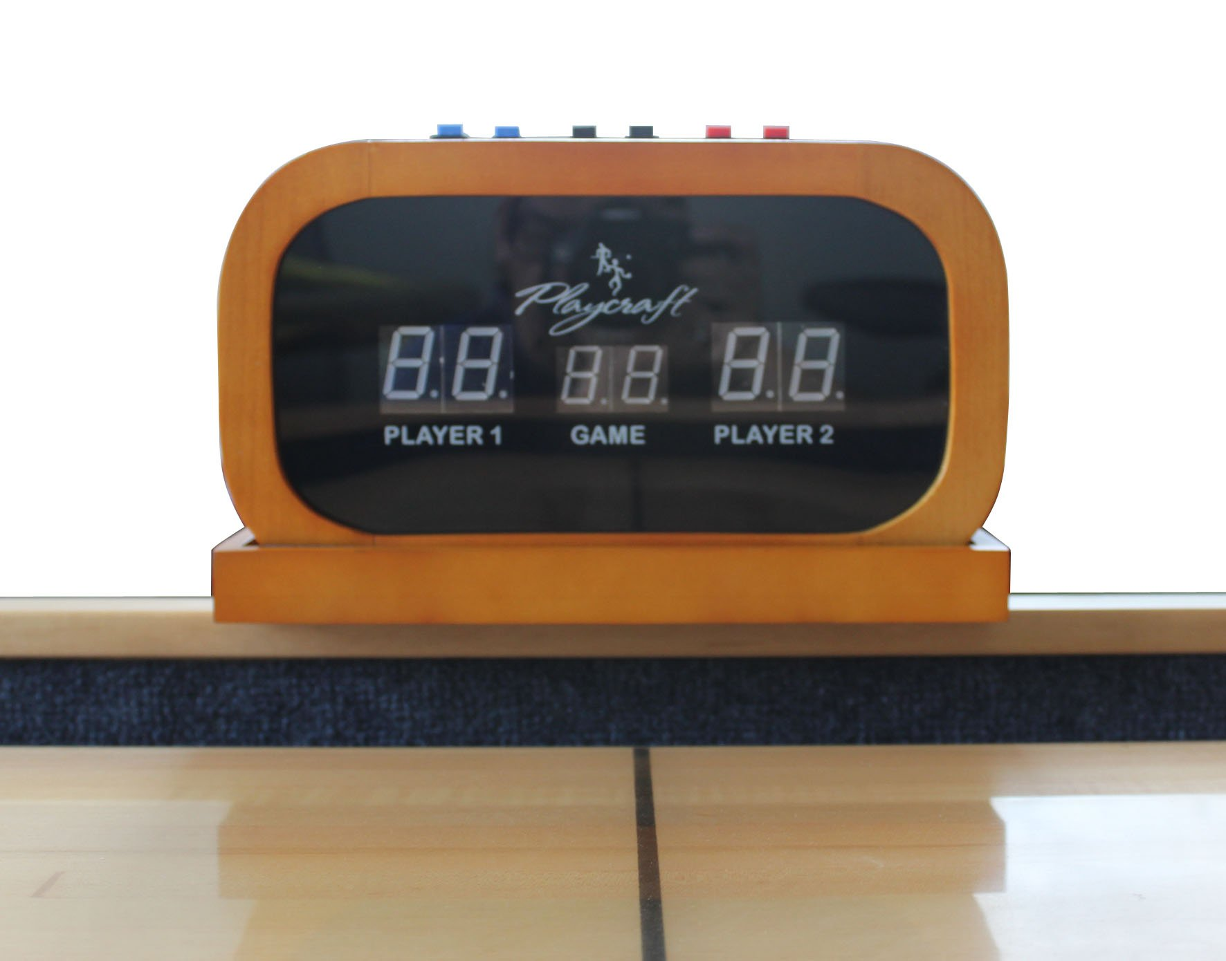 Playcraft Electronic Scorer for Home Recreation Shuffleboard Table - Honey by Playcraft