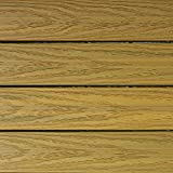 NewTechWood US-QD-ZX-OK Ultrashield Naturale Outdoor Composite Quick Deck Tile (10 Case), 1' x 1', English Oak