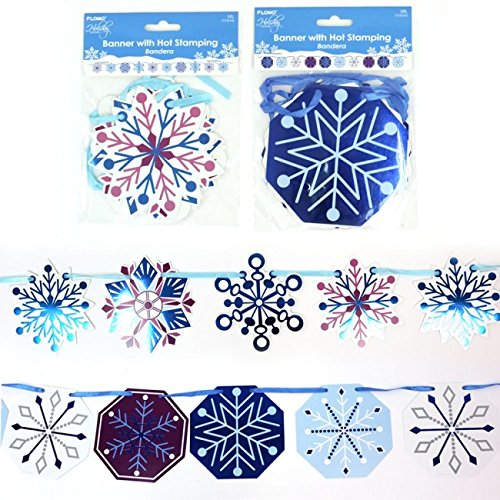 Holiday Essentials Paper Snowflake Banner with Hot Stamping by