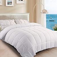 TASTELIFE Bedding Quilt 105GSM Highly Breathable Pure Soft Comforter, Duvet Insert Great for Summer Quilt