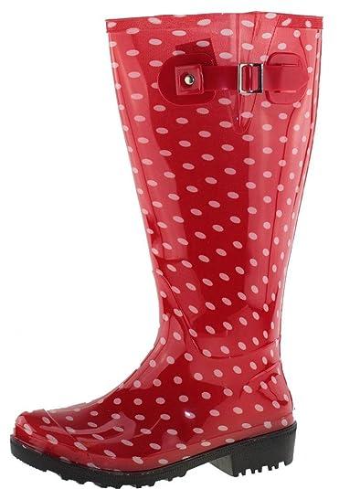 Gummistiefel38 Wellies Polka Dots Red XlWeitschaft Wide NwOm80Pyvn