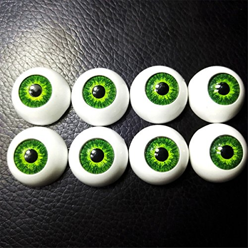 8pcs 20mm Plastic Safety Eyes Half Round Acrylic Doll Bear Craft Hollow Realistic Eyeballs Toys Making Halloween Horror Props from LKXHarleya