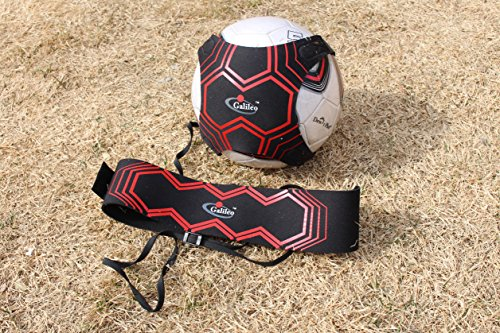 Galileo Solo Soccer Trainer Football Sports Throw Indoor Outdoor Self Practice Equipment with Adjustable Waist Belt Elastic Rope for 1 Pack