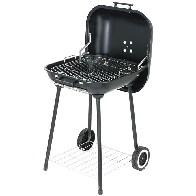 BBQ Barbacoa Grill Con Ruedas Como Maleta Con Tapa