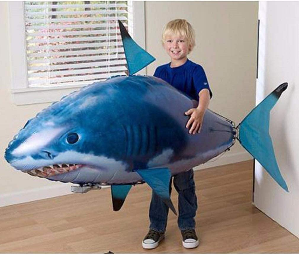 JOSE9A Air Swimmers RC Flying Shark Shark Requin Gonflable telecommand/é Poisson Clown Radiocommand/é Poisson Volant Gonflable Ballon Jouet Enfants Cadeau Remote Control