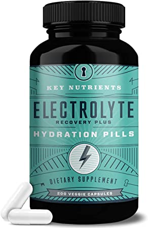 Electrolyte Salt Tablets: for Rehydration - Keto Friendly Hydration Supplement - Electrolyte Pills with No Carbs & No Sugar . Contains 6: Electrolytes - Sodium, Magnesium Salt, & More - 200 Capsules