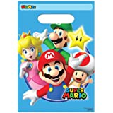 New Super Mario Brothers (8) Party Favor Loot Goody Bags Birthday Supplies~