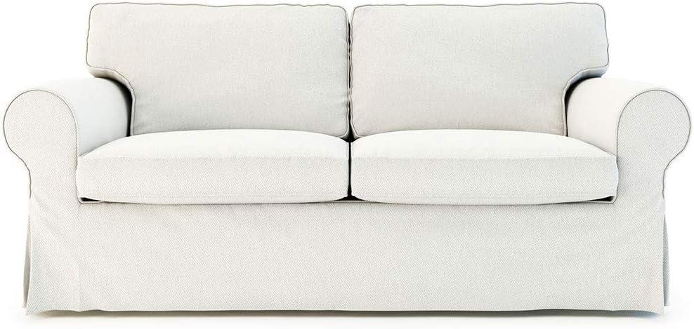 Funda de sofá de 2 asientos de algodón Ektorp hecha de repuesto para el sofá de 2 asientos Ikea Ektorp