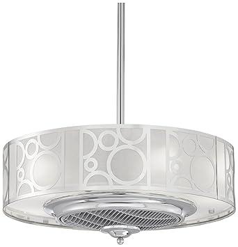 24 casa vieja chrome drum ceiling fan amazon 24quot casa vieja chrome drum ceiling fan mozeypictures Choice Image