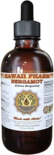 Bergamot Liquid Extract, Bergamot Citrus Bergamia Dried Fruit Peel Powder Tincture Supplement 2 oz