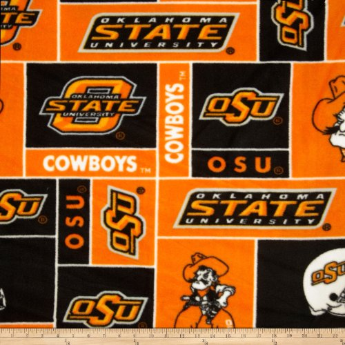 Sykel Enterprises Collegiate Fleece Oklahoma State University Orange Fabric by The Yard - Orange Collegiate Stadium Seat