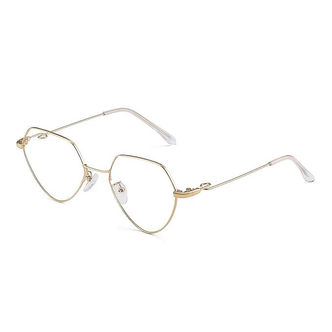 36bab0d1b2 JM Moda Corazón Rx-able Anteojos Metal Cable Gafas Ópticas Marco Para Mujer  Dorado: Amazon.es: Ropa y accesorios