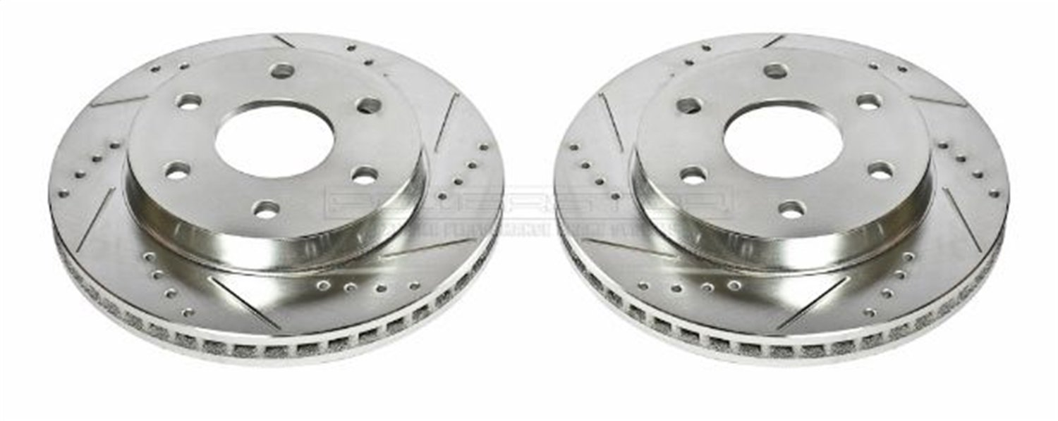 2. Power Stop AR8640XPR Front Evolution Drilled & Slotted Rotor Pair
