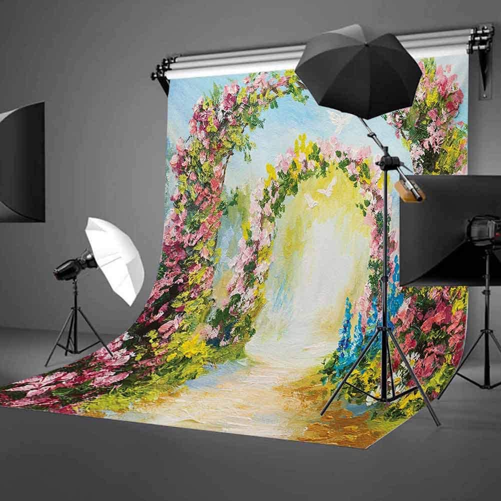 Floral 8x10 FT Backdrop Photographers,Abstract Watercolored Image with Flowers on a Boat Surreal Image with Sky Wiev Art Background for Baby Birthday Party Wedding Vinyl Studio Props Photography