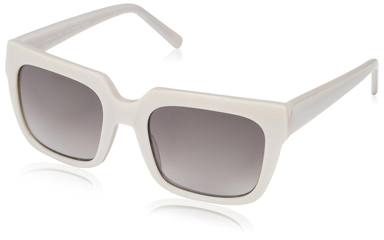 SOCIETY NEW YORK Women's Square Brow Sunglasses, Pearl, 53-21-140