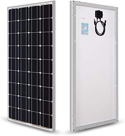 front facing renogy 100 watts 12 volts solar rv kit