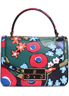 aa9edd1040dd Tory Burch Juliette Floral Printed Ladies Small Leather Satchel Handbag  42118961