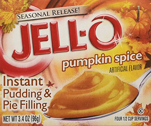 (Kraft Jell-O Instant Pudding Dessert & Pie Filling, Pumpkin Spice, 3.4 Oz. Boxes (Pack of 6) )