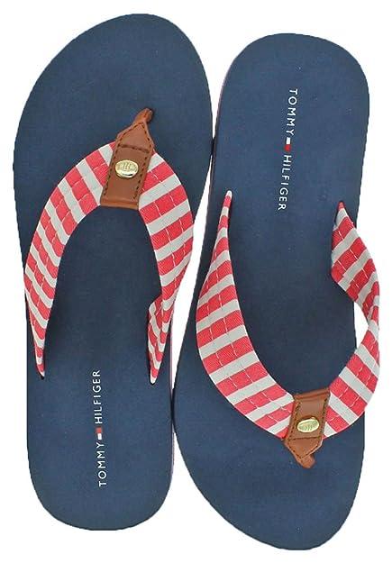 2fbac9b10e0 Tommy Hilfiger Women s Assorted Eva Flip Flop Sandals Medium Pink Fabric 8  B(M)